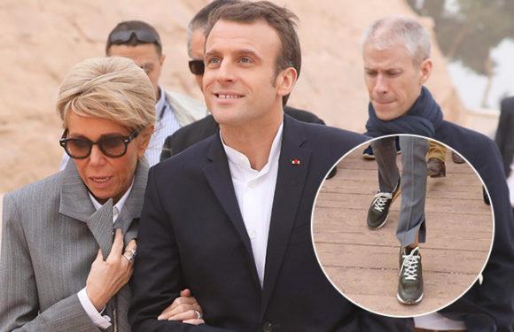 Брижит Макрон раскритиковали за кроссовки в храме