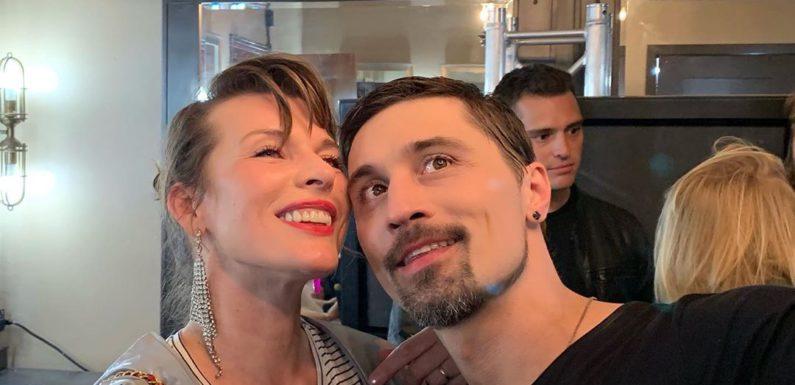 Мила Йовович пришла на концерт Димы Билана